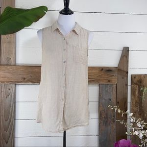 Sigrid Olsen  Linen Top Sleeveless Top Pre Loved